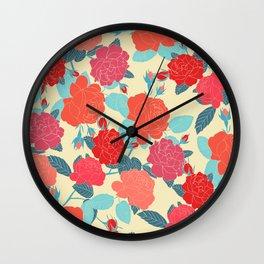 Rose Garden - Light Wall Clock