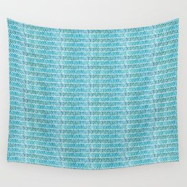 Light Blue Aztec Chevrons.  Wall Tapestry