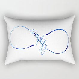 Simplify to Infinity Typography in Blue Rectangular Pillow