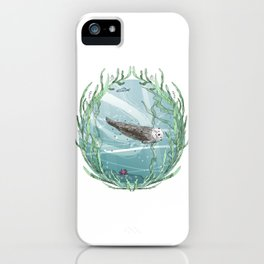 Otters Love Life iPhone Case