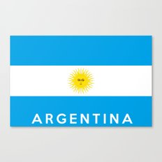 argentina country flag name text Canvas Print