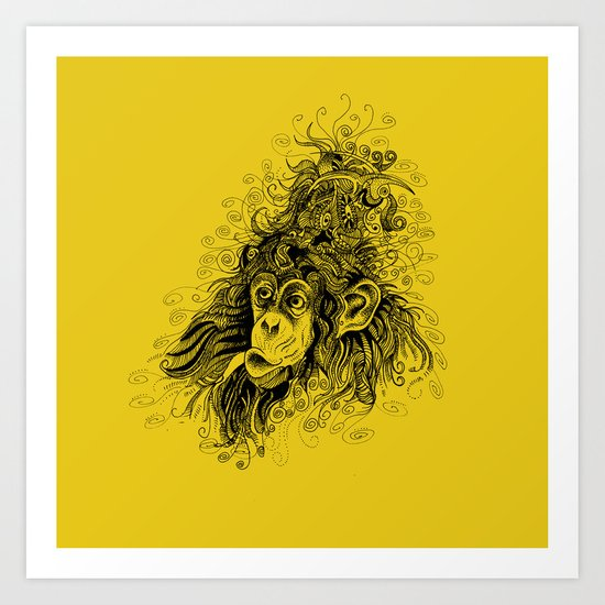 hairstyle of the rich and famous Art Print