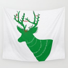 Green Stag Wall Tapestry