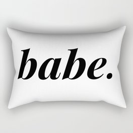babe. Rectangular Pillow