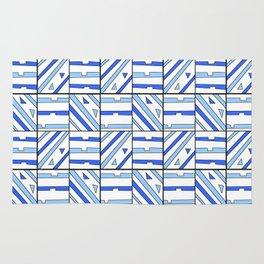 symetric tartan and gingham 14 -vichy, gingham,strip,square,geometric, sober,tartan Rug