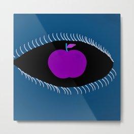 Purple Apple Of The Blue Ones Eye Metal Print