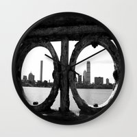 boston Wall Clocks featuring Boston by Gold Street Photography