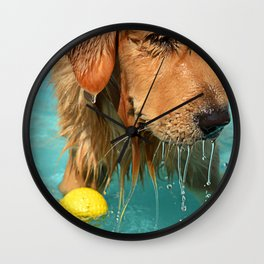 Kiddie Pool Pup Wall Clock