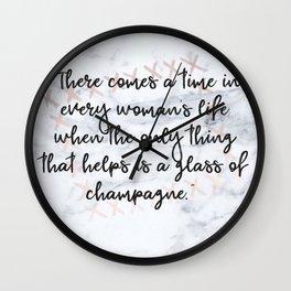 Champagne love Wall Clock
