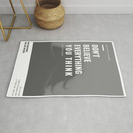 Don't Believe Everything You Think | You are Loved Rug