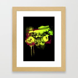 Sound Collage Framed Art Print