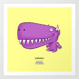 Growlasaurus Art Print