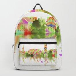 Colorful Harvard University Skyline Backpack