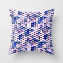 Rose Mermaid Skin Pattern Throw Pillow