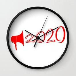 Red 2020 Megaphone Wall Clock