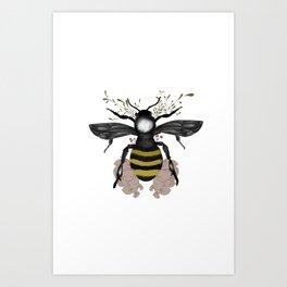 The bee is here Art Print