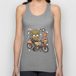 Hipster Caferacerfor animated characters comics and pop culture lovers Unisex Tank Top