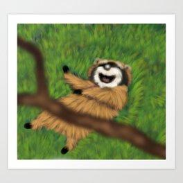 Raccoon Series: Oops! Art Print