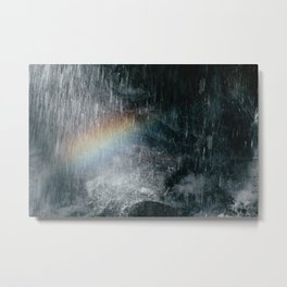 Rainbow Waterfall Metal Print