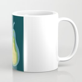 Concentric Pears - Nesting in Blue, Green, and Yellow Coffee Mug