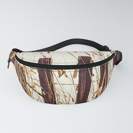 Old Slat Fence with Reeds Fanny Pack