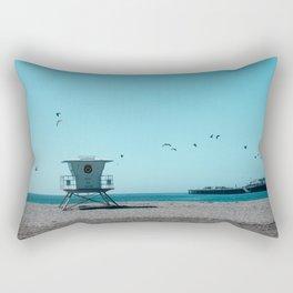 Birds and lifeguard Rectangular Pillow