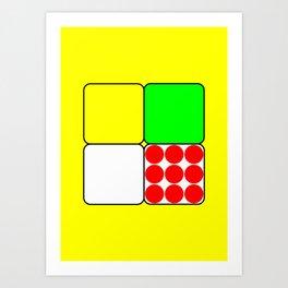 Tour de France Jerseys 3 Yellow Art Print