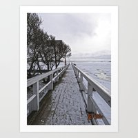 finland Art Prints featuring Frozen Finland by Chema G. Baena Art