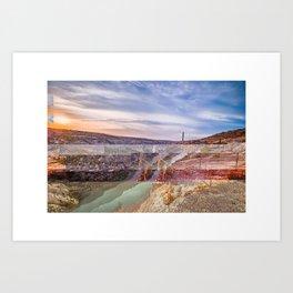 Digital Border Art Print