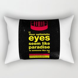 Depeche Black - Your Optimistic eyes - Mode Celebration Rectangular Pillow