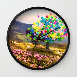 When Balloon Bloom Wall Clock