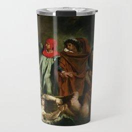 Eugne Delacroix - The Barque of Dante Travel Mug