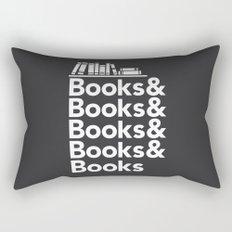 Books & Books & Books Rectangular Pillow