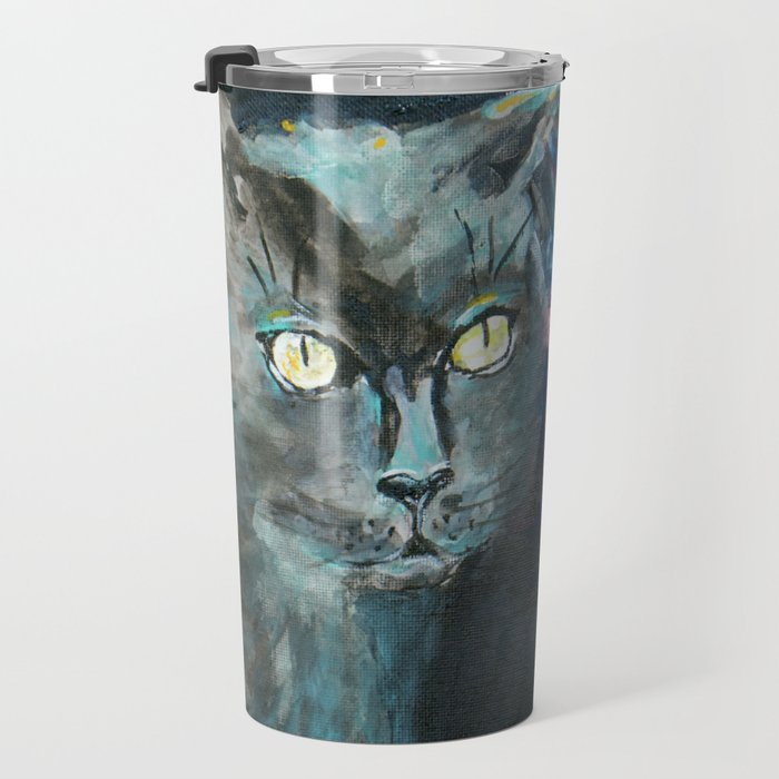 They Meet in the Night (Cats) Travel Mug