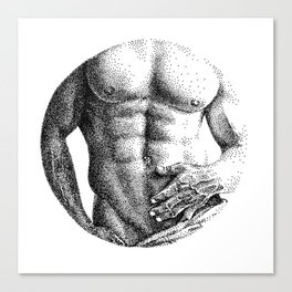 Konstantin Circle NOODDOOD Canvas Print