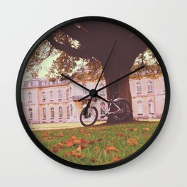 Manor Bike ride Wall Clock