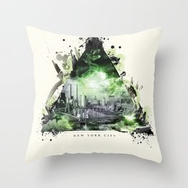 The Essence of New York City Throw Pillow