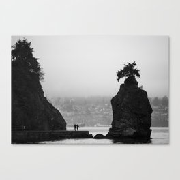 Between Two Rocks Canvas Print