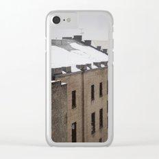 Urban Snowfall Clear iPhone Case