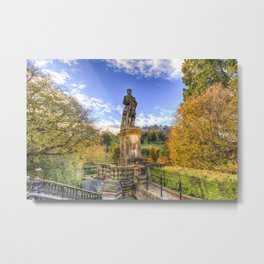 Allan Ramsey And Edinburgh Castle Metal Print