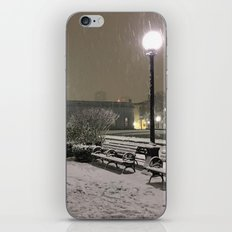 Romantic Seattle Snow At Night iPhone & iPod Skin