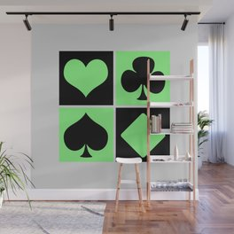 Cards series - Black and green Wall Mural