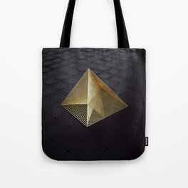 Golden pyramid Tote Bag