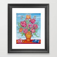 Vase Of Flowers Framed Art Print