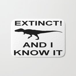 Extinct T-Rex Bath Mat