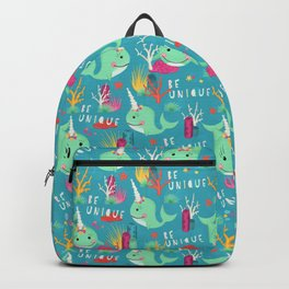 Narwhal Be Unique Pattern Backpack