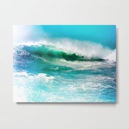 Ocean Wave Rip Curl Metal Print