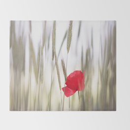 Poppy Abstract Throw Blanket