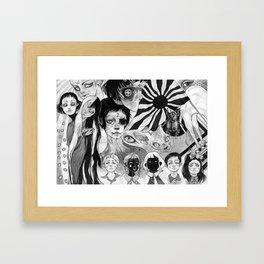 21 eyes Framed Art Print