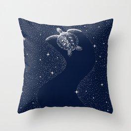 Starry Turtle Throw Pillow